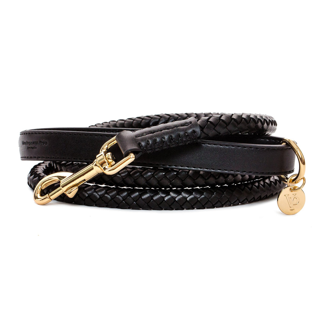 VP Pets Handwoven Leash - Black - Vanderpump Pets