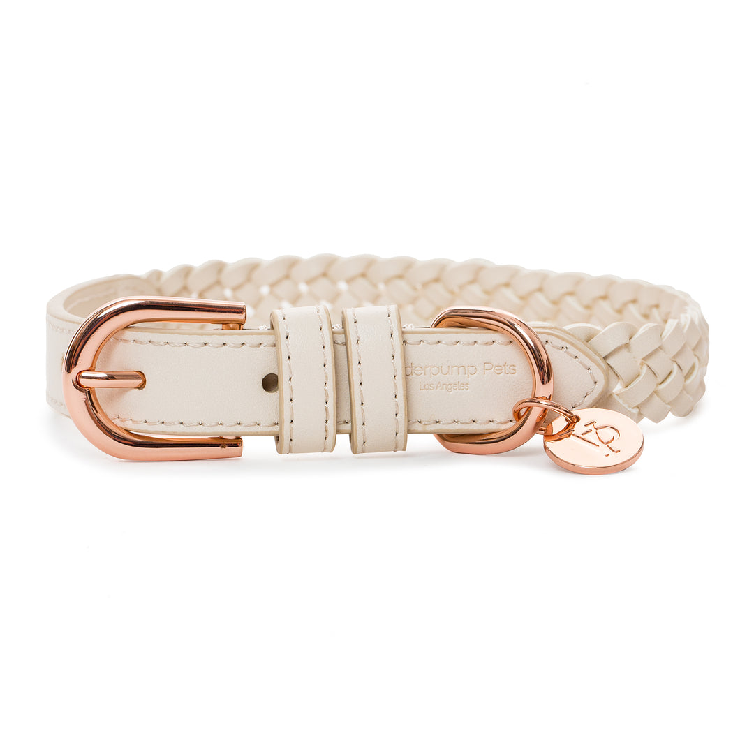 VP Pets Handwoven Collar - Cream - Vanderpump Pets