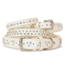 Load image into Gallery viewer, VP Pets Diamond Choker Leatherette Collar - White - Vanderpump Pets