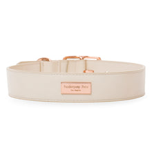 Load image into Gallery viewer, VP Pets Wide Large-Breed Collar - Cream - Vanderpump Pets