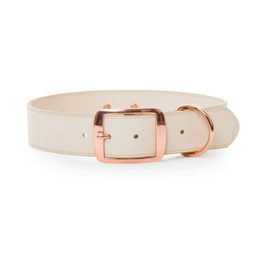 VP Pets Wide Large-Breed Collar - Cream - Vanderpump Pets