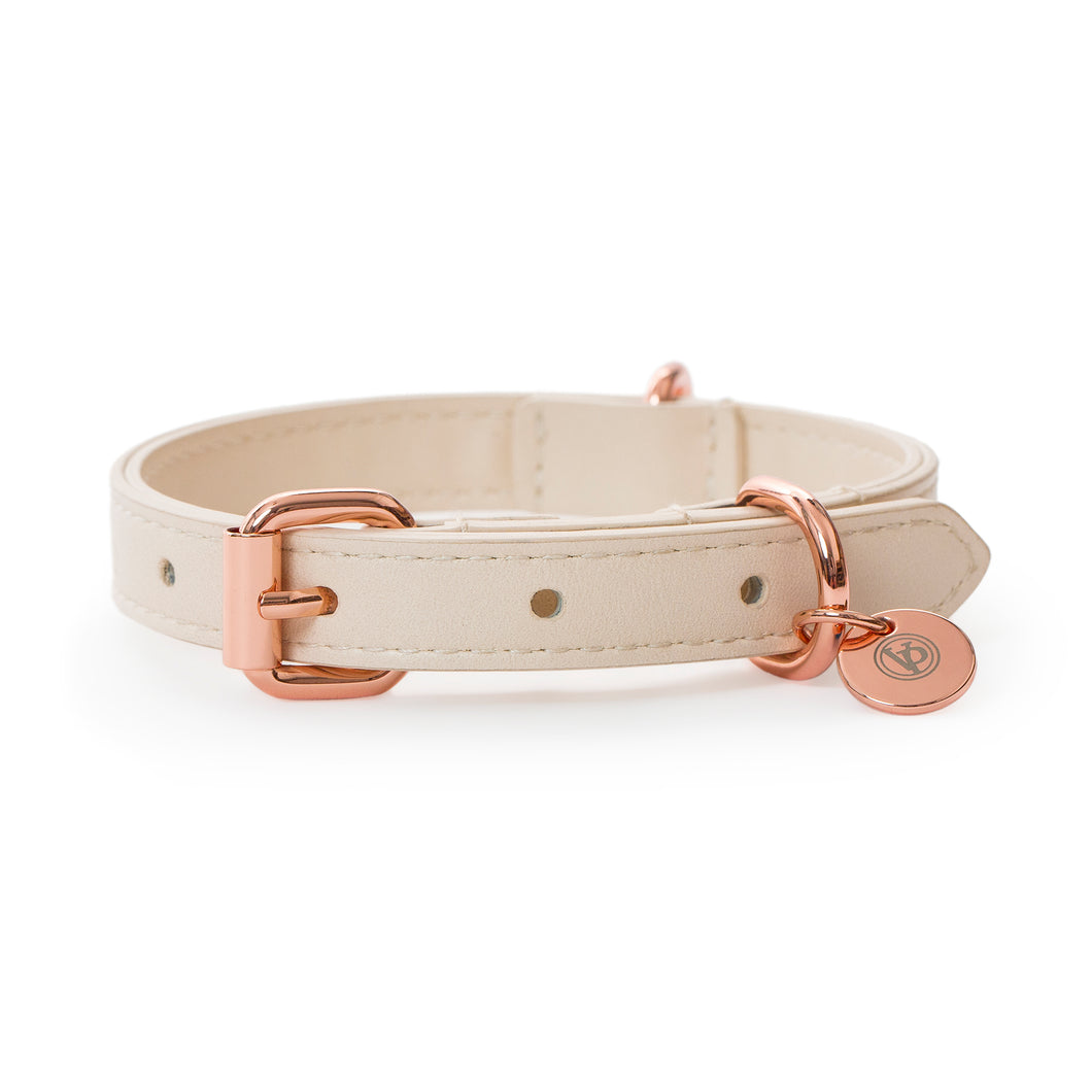 VP Pets Classic Lisa Collar - Cream - Vanderpump Pets