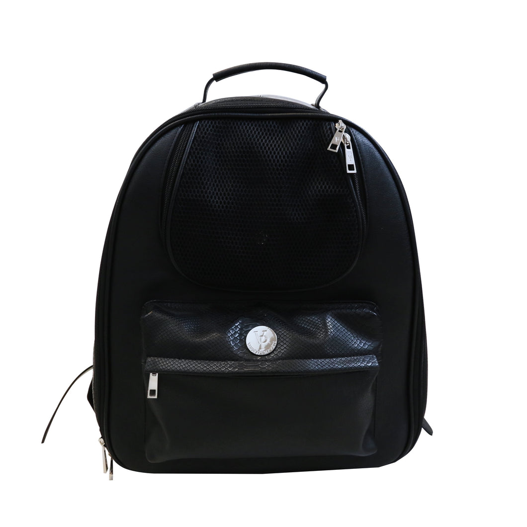 Vanderpump Classic Pet Backpack - Black - Vanderpump Pets