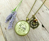 "24"" For I Know the Plans I Have For You Necklace Christian Jewelry Jeremiah 29 11 Compass Charm"