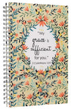 """My Grace is Sufficient"" Printed PVC Cover Wirebound Journal / Notebook - 2 Corinthians 12:9"