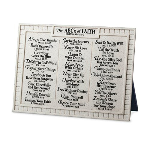 Lighthouse Christian Products Small ABC's of Faith Desktop Plaque, 8 x 6