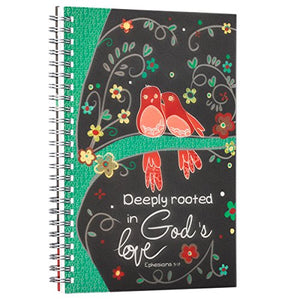 Love Grows Printed PVC Cover Wirebound Journal / Notebook - Ephesians 3:17
