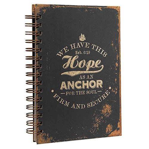 Distressed Design Hebrews 6:19 Hardcover Wirebound Journal