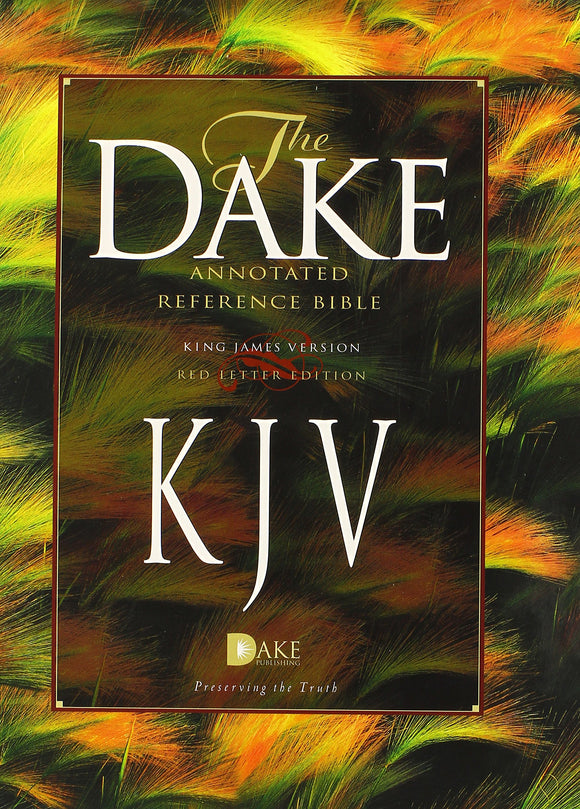 Dake's Annotated Reference Bible-KJV: Finis J Dake: 9781558291768: Amazon.com: Books