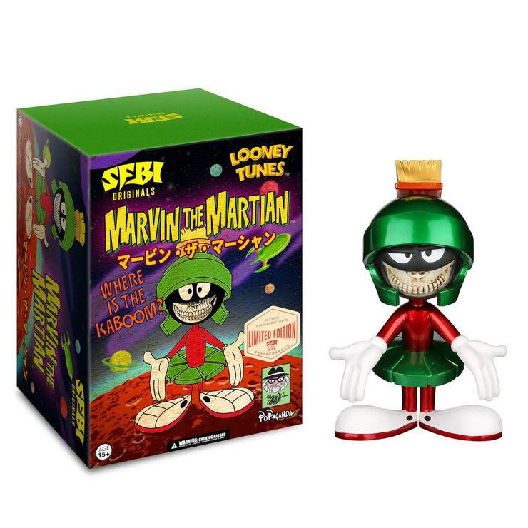 "Looney Tunes x Ron English - Marvin the Martian 8"" (Metallic)"