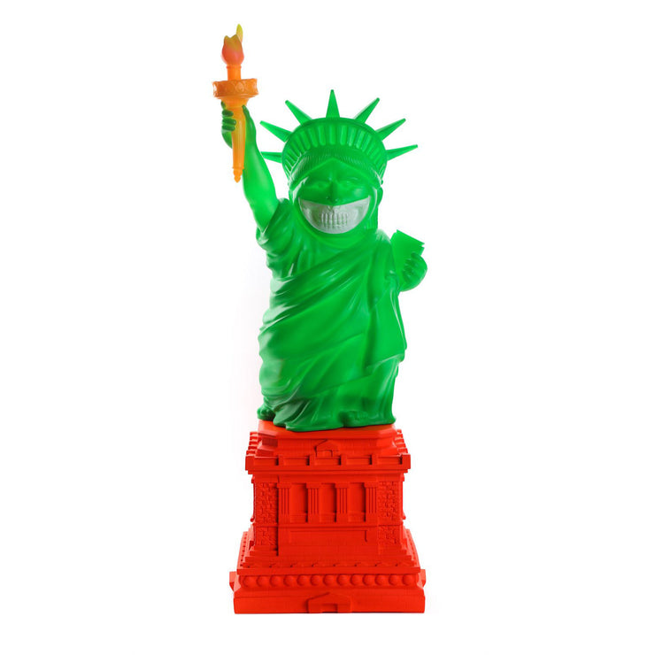 "Liberty Grin 22"" Statue - Green"