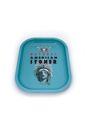 Tin Metal Tray - Natural American Stoner