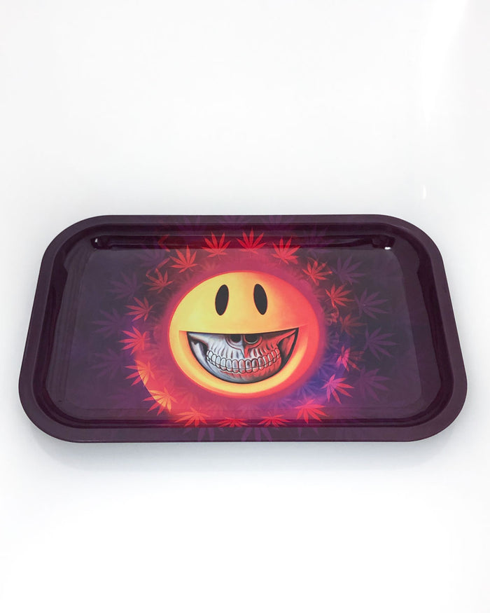 Tin Metal Tray - Grin