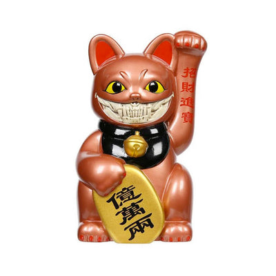 "LUCKY CAT GRIN 6"" - (Copper)"