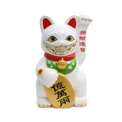 "LUCKY CAT GRIN 8"" - (White)"