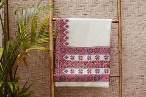 KULU SHAWL STAR OFF-WHITE