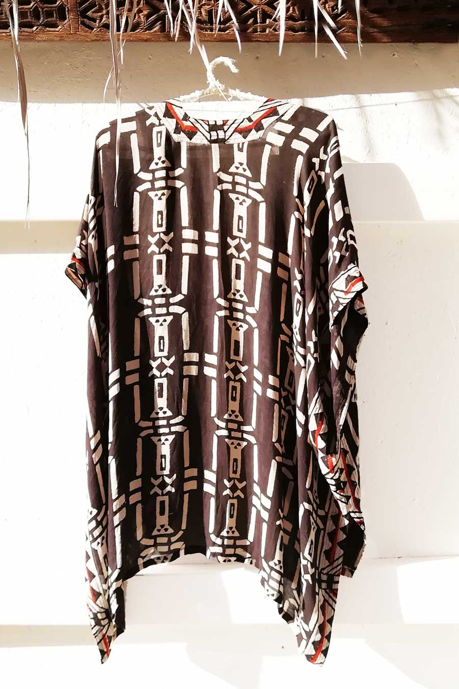 Massakai Block Print Unisex Open Top