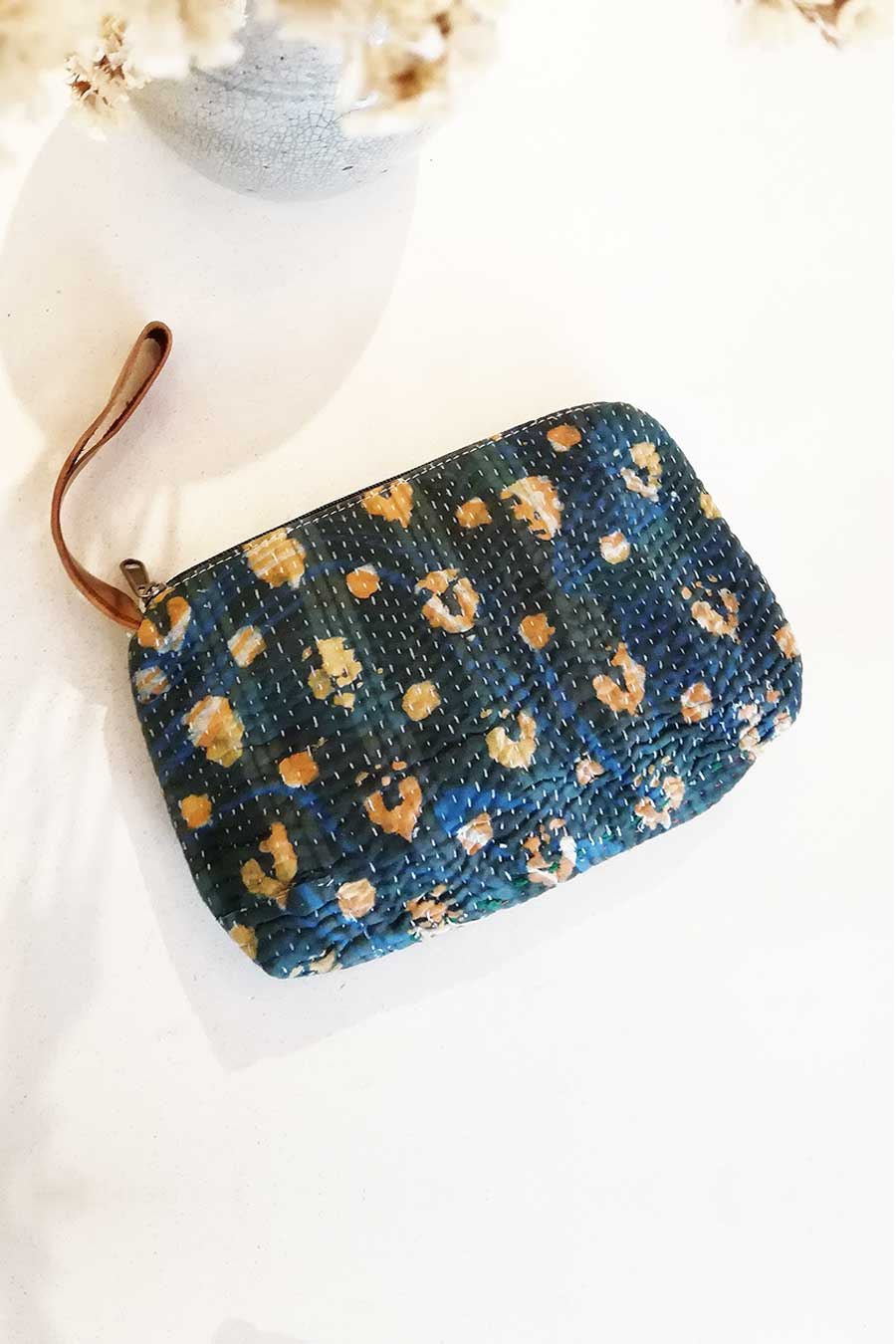 Blue and Orange Bohemian Clutch Bag