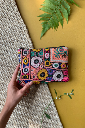 Bohemian Embroidered Mini Wallet