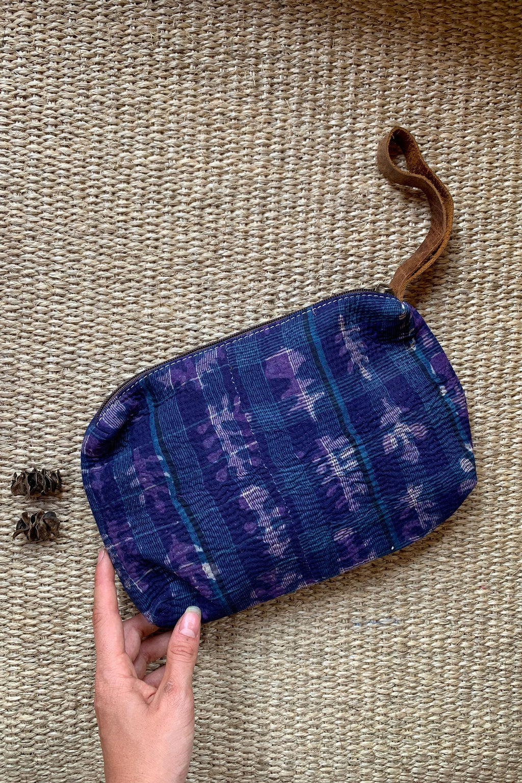 Purple and Blue Small Clutch Wallet Bag