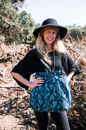 Boho Block Print Shoulder Bag
