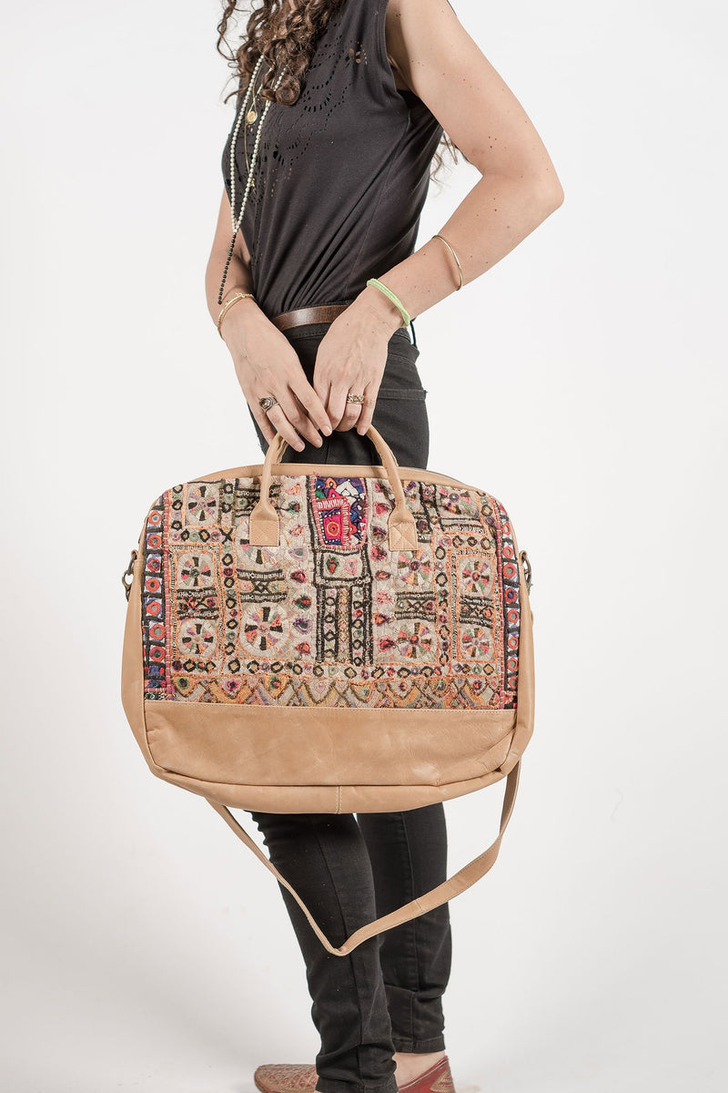 Bohemian Laptop Bag with Embroidery
