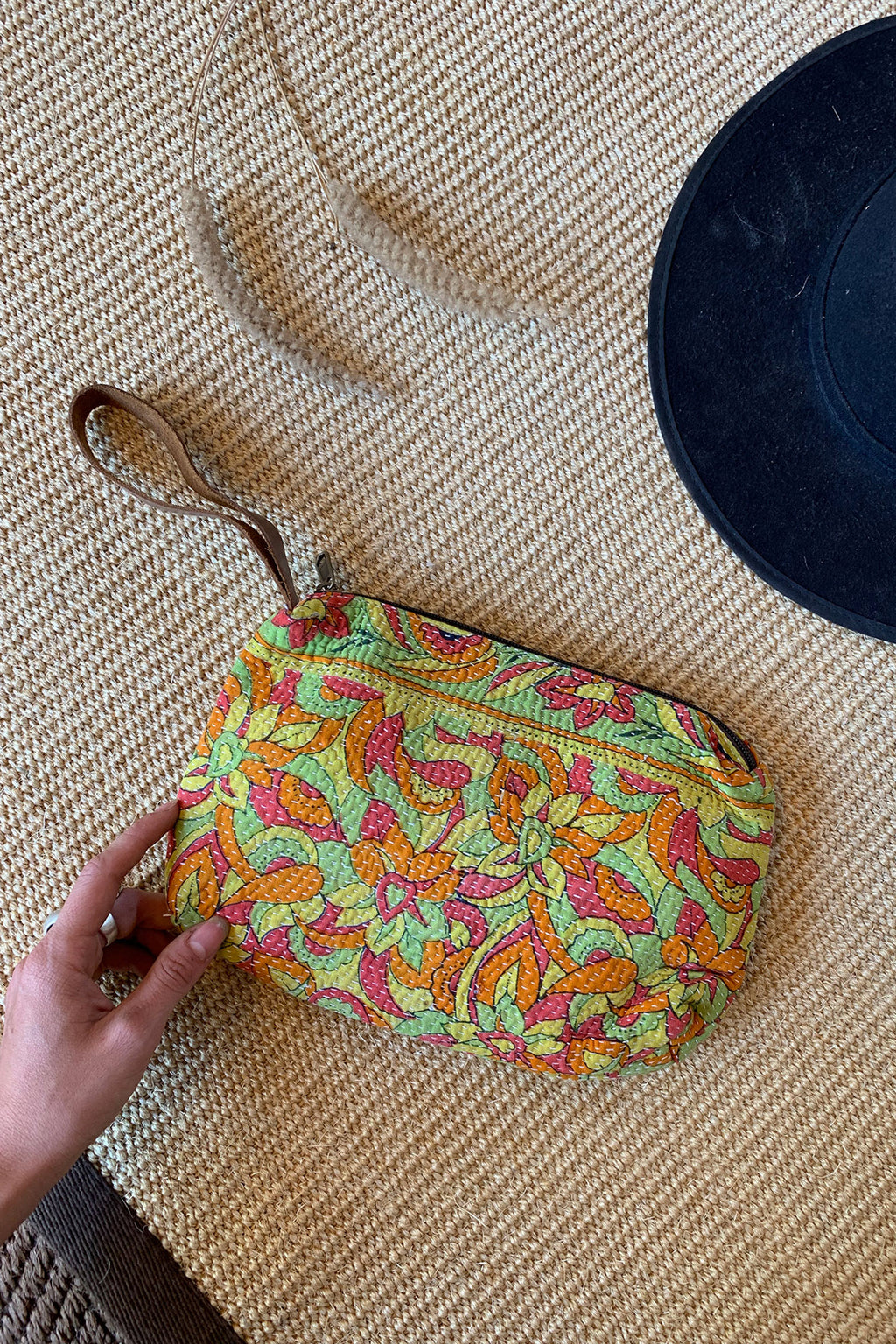 Vintage Fabric Multicolor Clutch