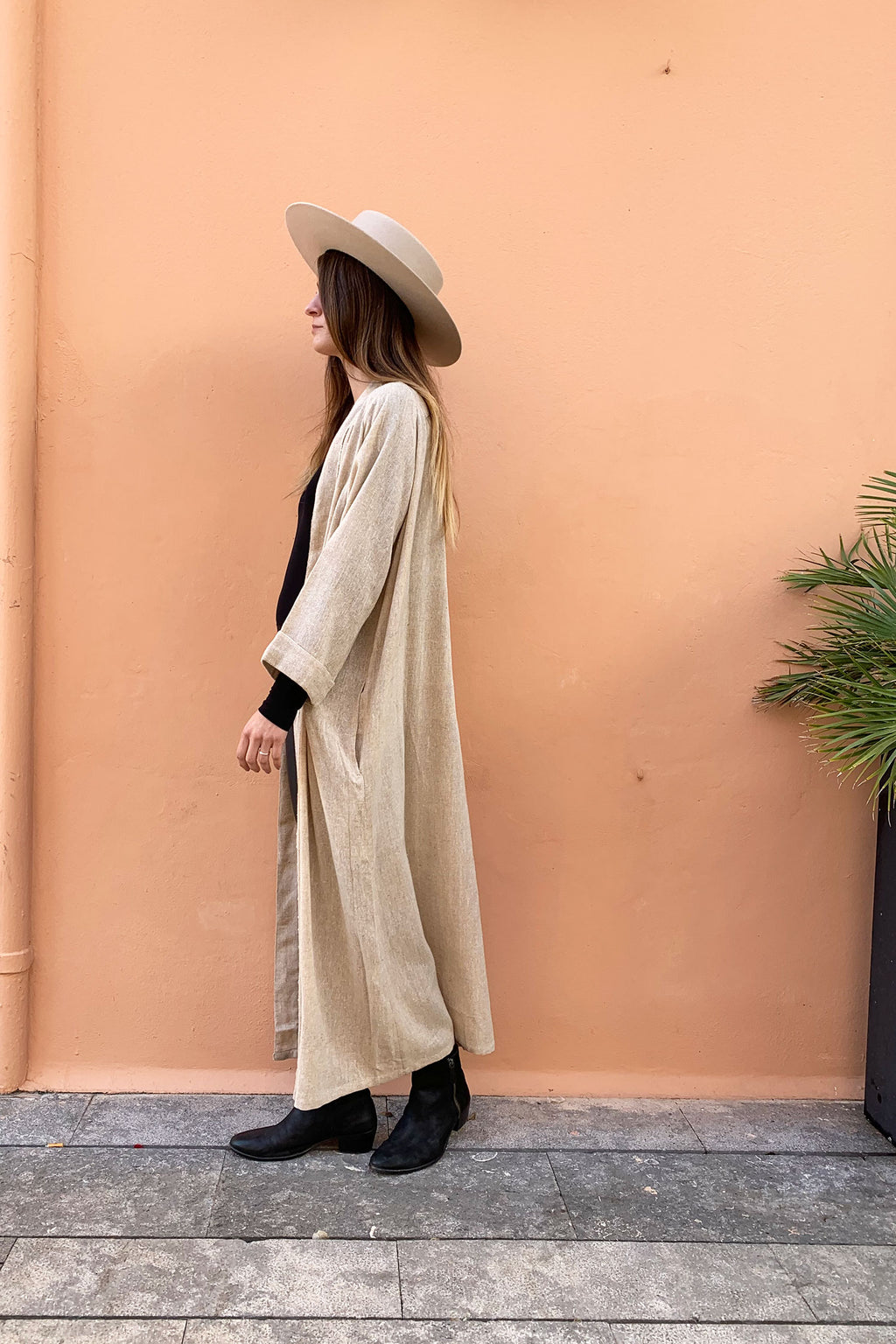 Long Boho Duster Jacket from Raw Silk