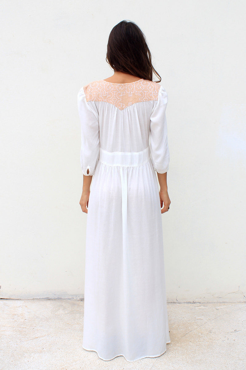 NAYELI MAXI DRESS WHITE