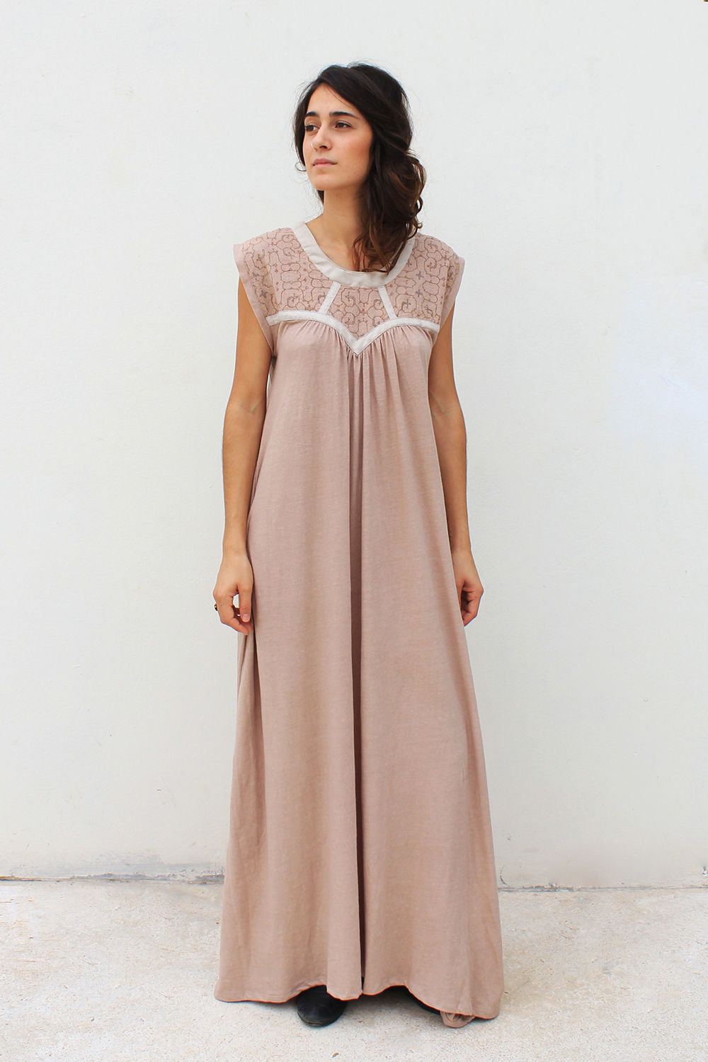 ALMA MAXI DRESS BEIGE