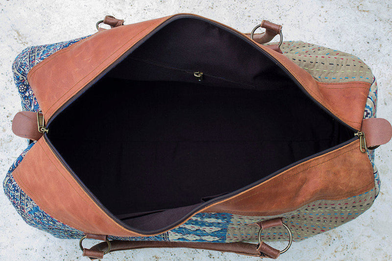 Duffle Bag Vintage Pink and Blue