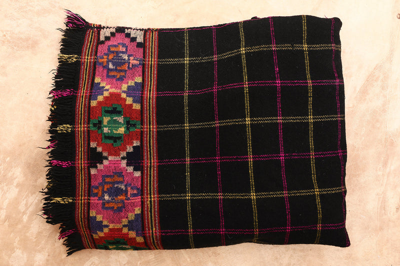 Madhu Patu Antique Himalaya Vintage Throw Blanket