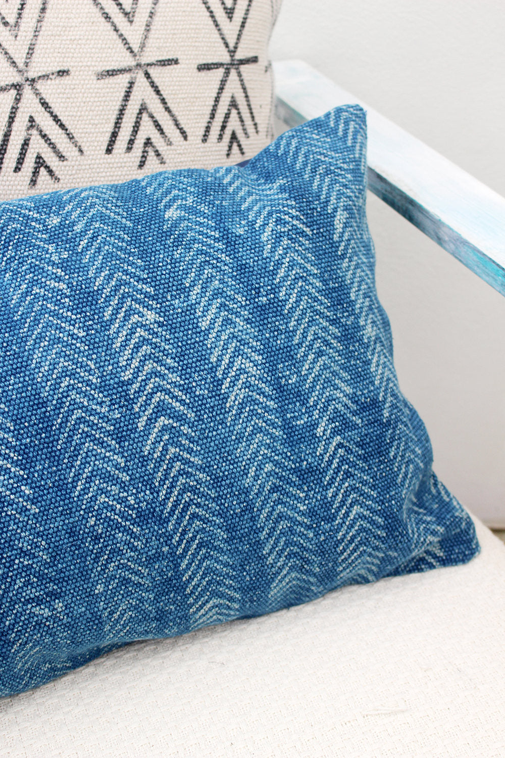 INDIGO RECTANGLE DECORATIVE CUSHION COVER