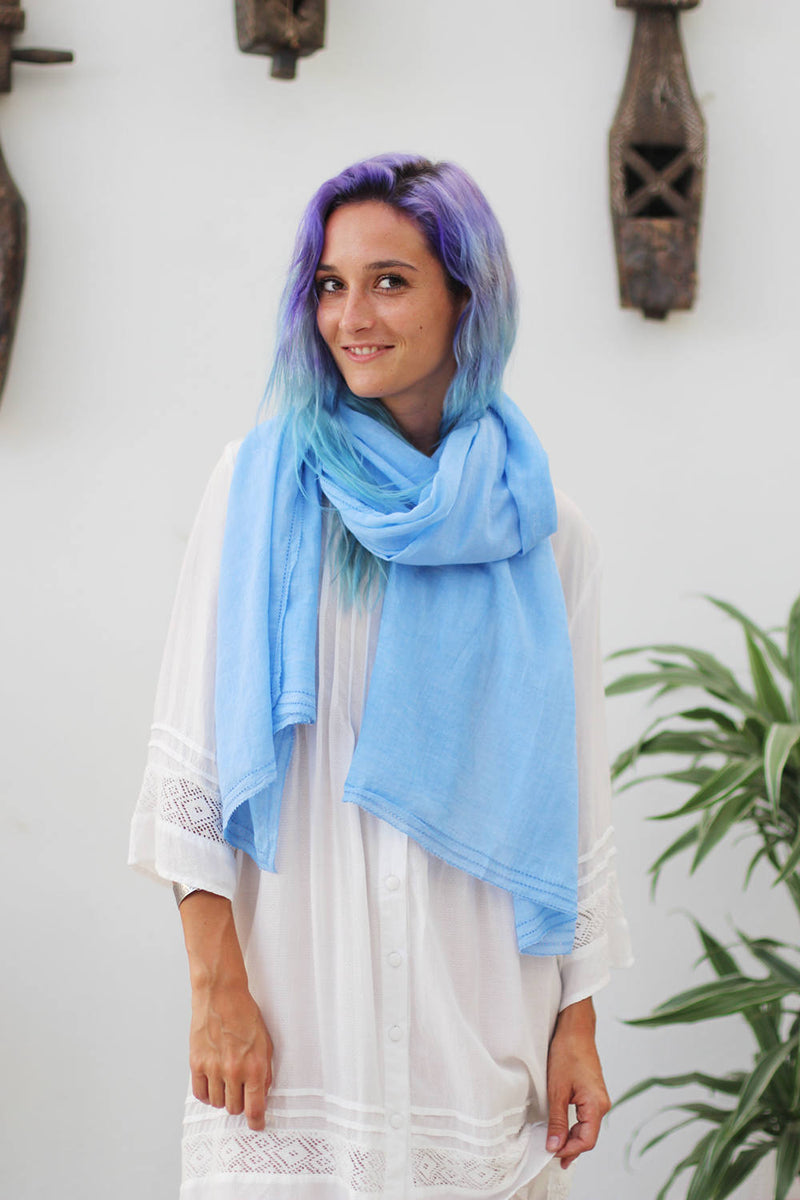 JESSIE SCARF LIGHT BLUE JEANS