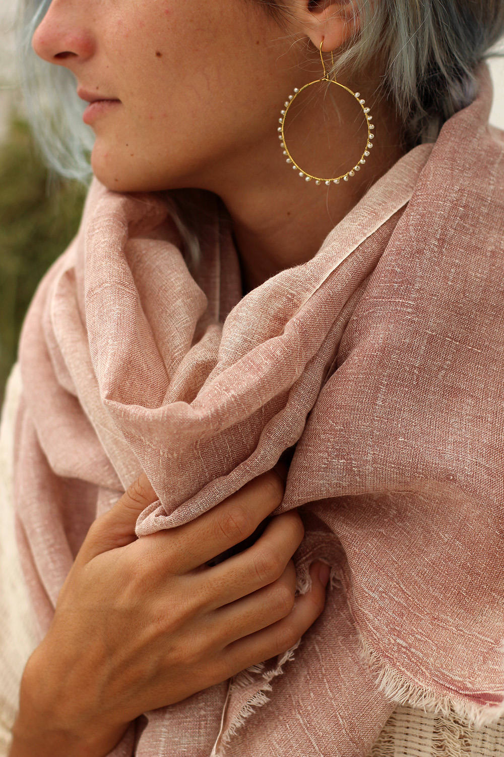 IZZY SCARF DUSTY PINK