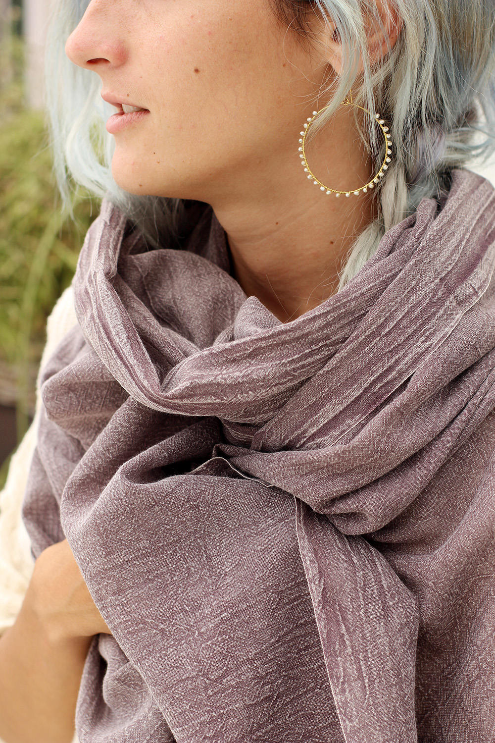 LEXI SCARF DUSTY PURPLE
