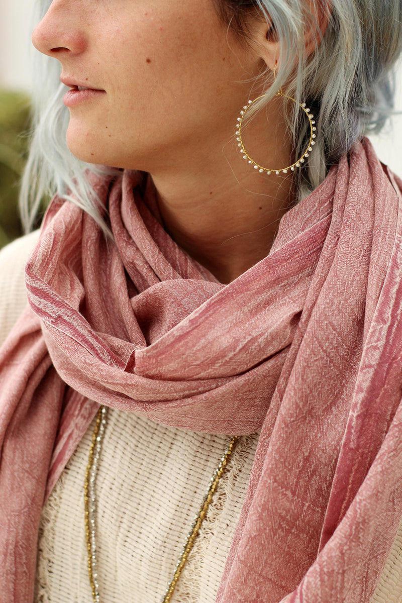 LEXI SCARF DUSTY PINK