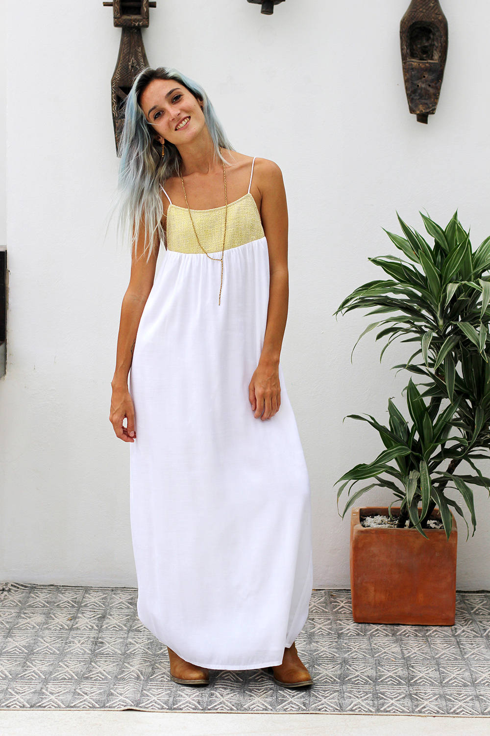 CLEOPATRA MAXI DRESS WHITE