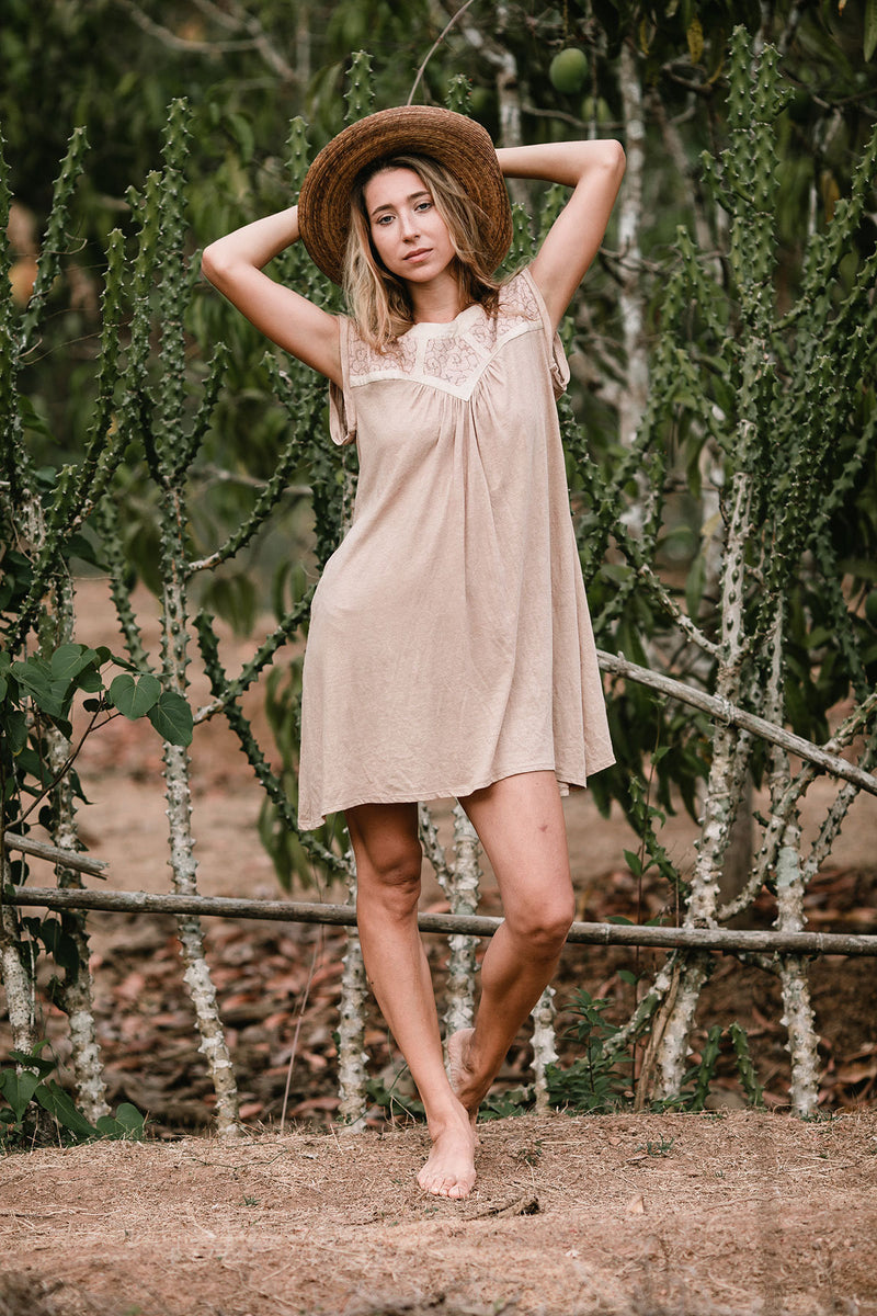 ALMA SHORT DRESS BEIGE