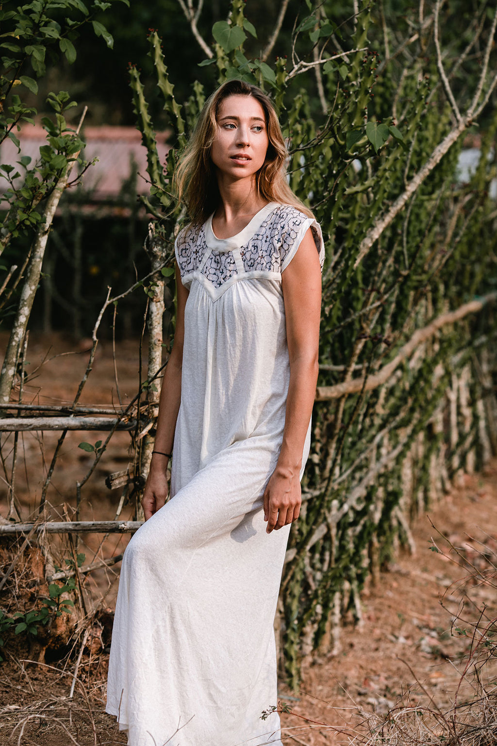 ALMA MAXI DRESS WHITE