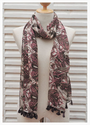 TROPICAL NARROW SCARF