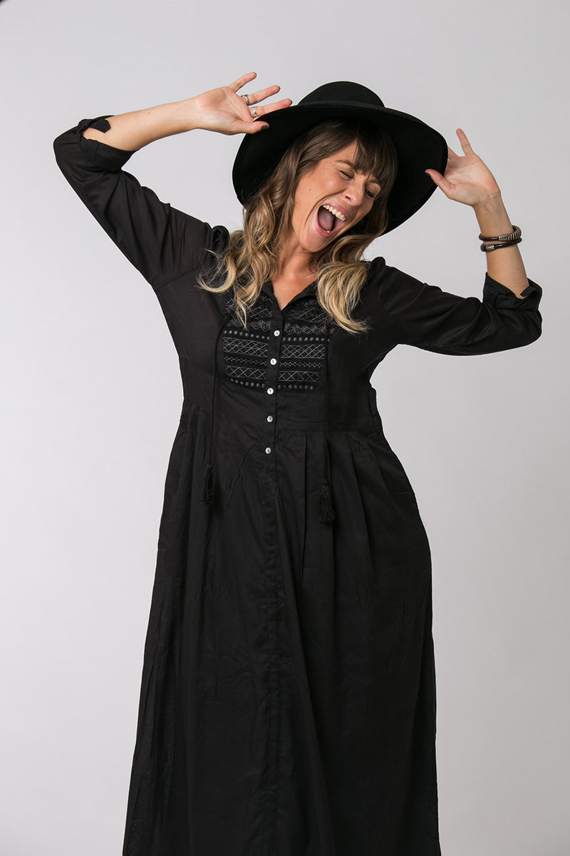 ROCK STAR MAXI DRESS BLACK