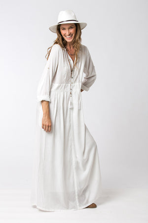 ROCK STAR MAXI DRESS WHITE