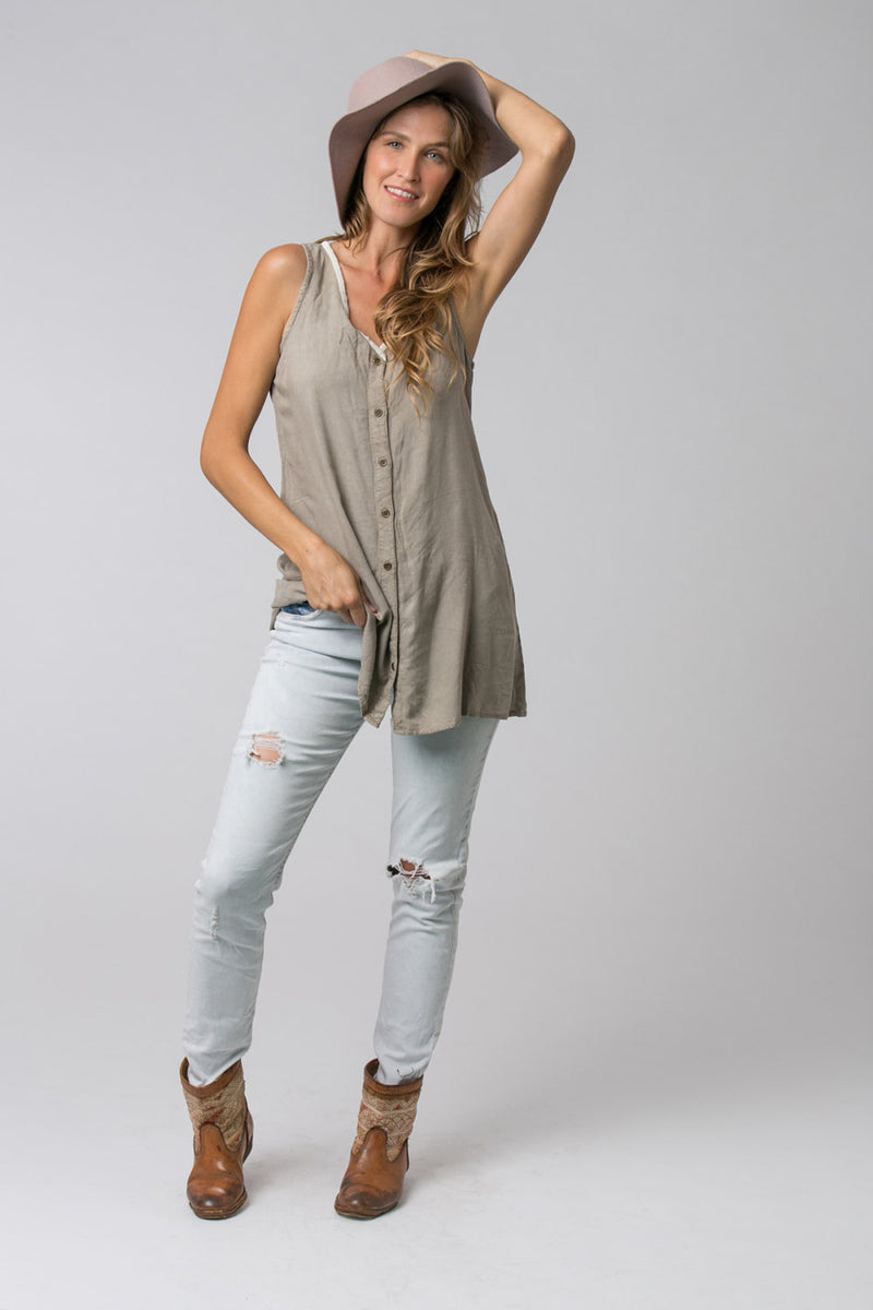 STONE WASH TUNIC GREY