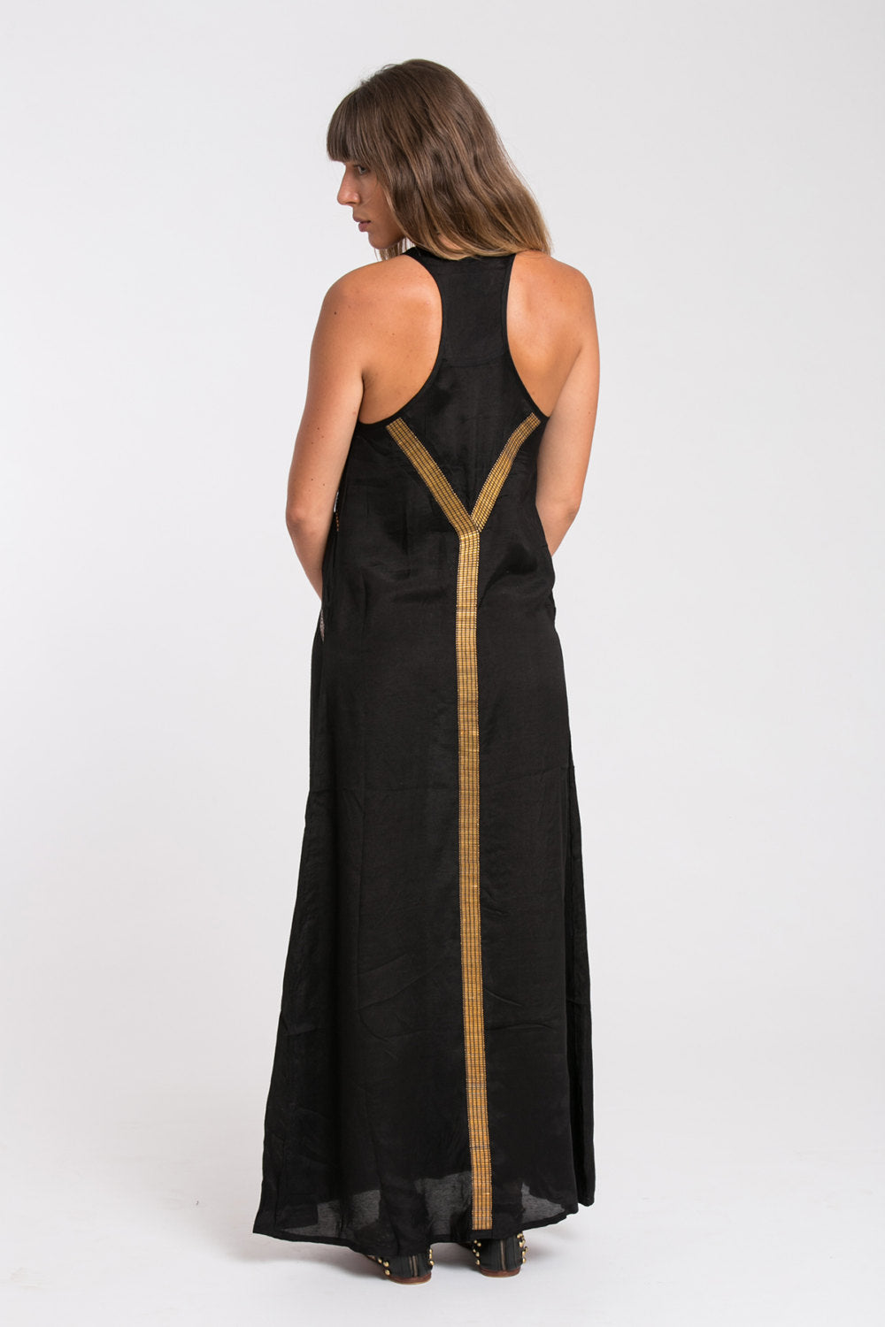 EGYPTIAN MAXI DRESS BLACK