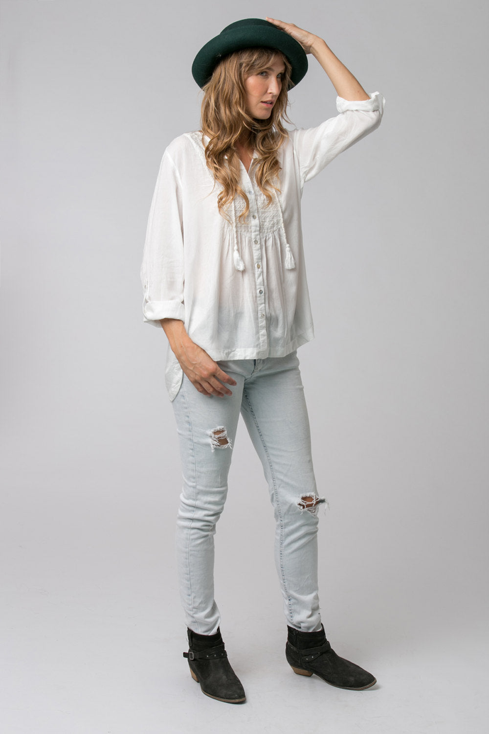 ROCK STAR TOP WHITE