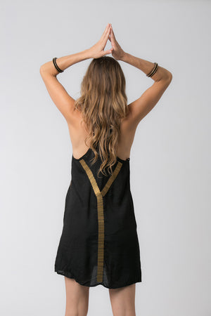 EGYPTIAN SHORT DRESS BLACK