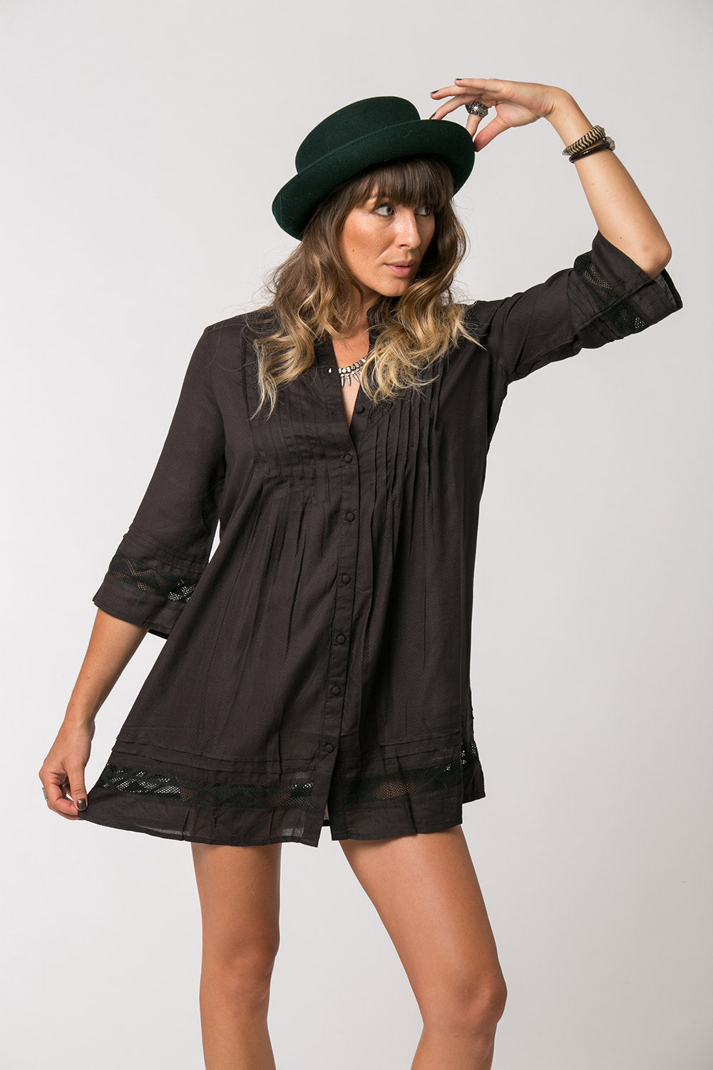 MILA SHORT DRESS BLACK