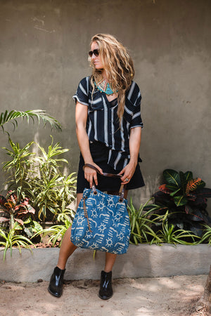 Spell Tote Shoulder Bag Indigo