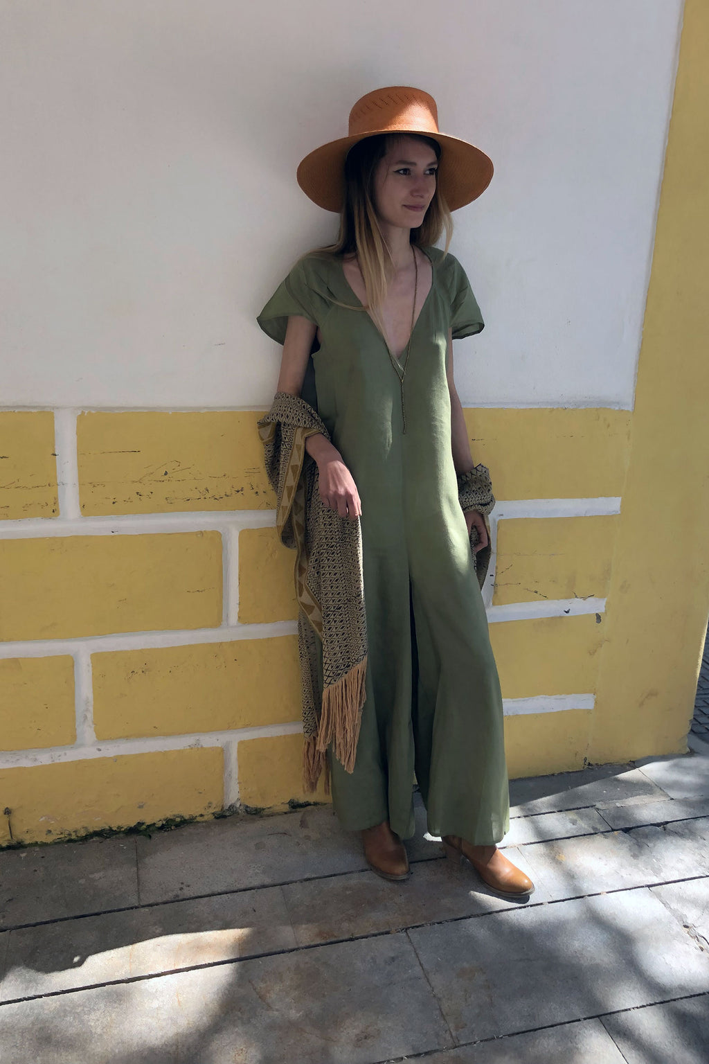 Lana Hemp Sustainable Jumpsuit Green